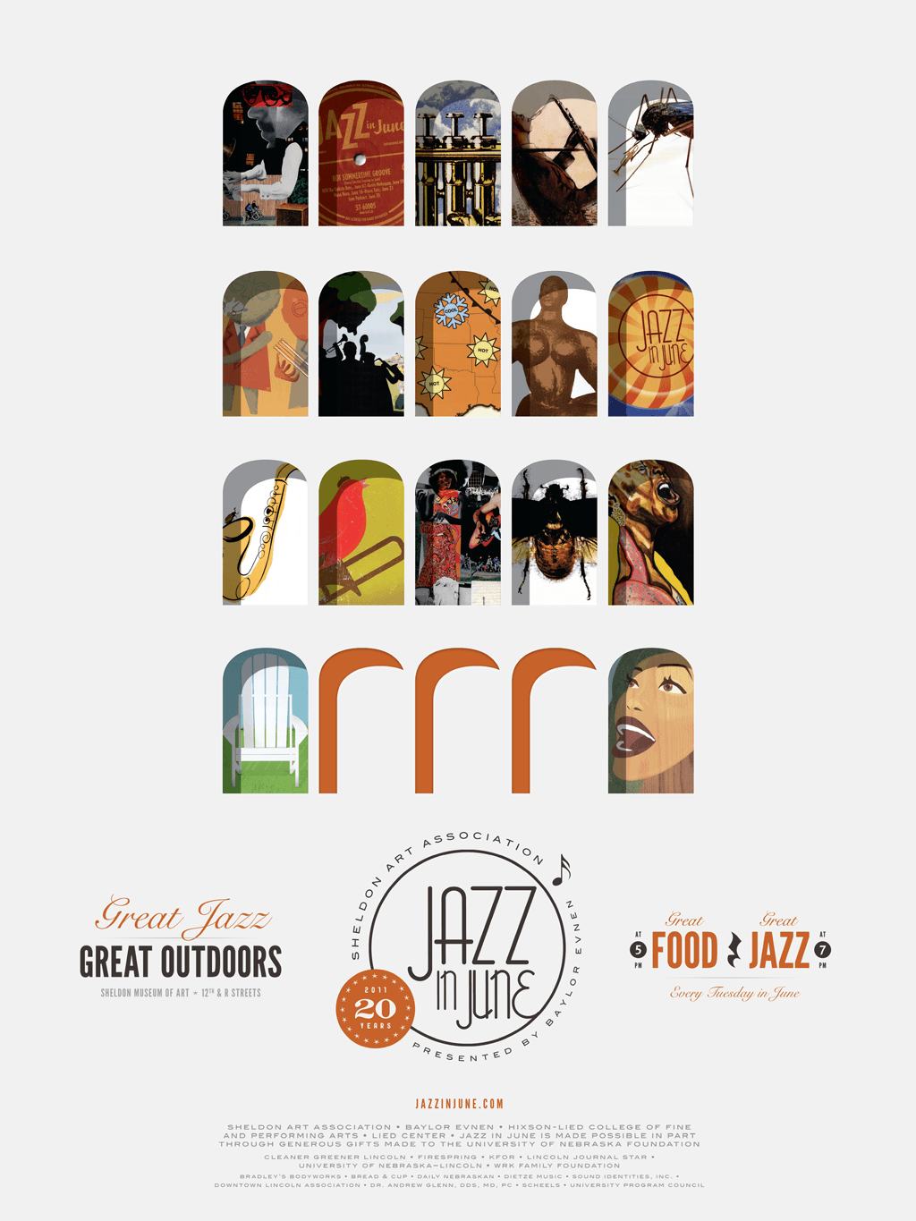 Jazz In June 20th Anniversary Poster